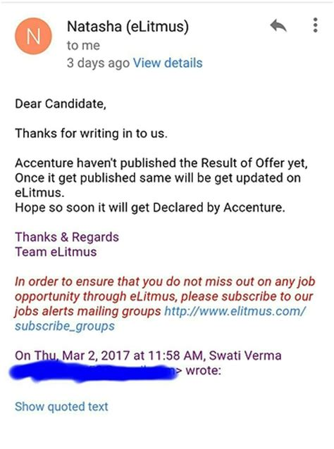 Accenture Offer Letter Queries Accenture Offer Letter From 8th Feb Drive Bangalore Companies And Elitmus Adda