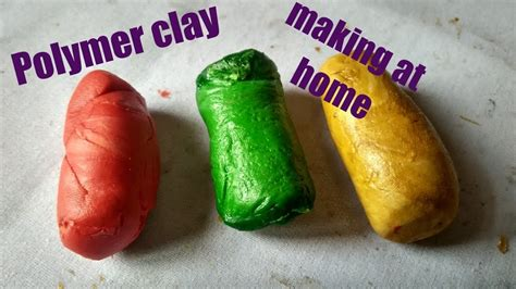 how to make polymer clay at home with available