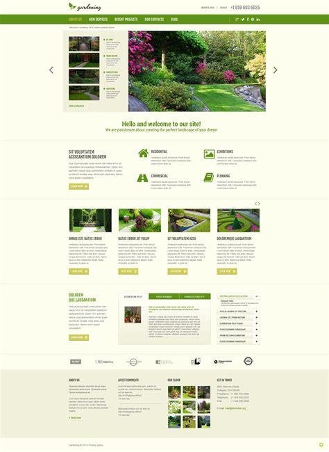 Garden Design Responsive Joomla Template 48960 Garden Design Templates