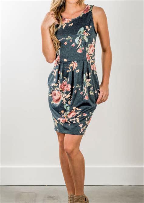 floral draped sleeveless mini dress bellelily