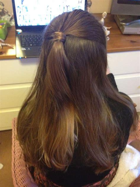 how to do half ponytail hairstyles half ponytail style health hair hair syles pinterest