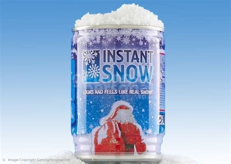 instant snow in a can christmas gifts from