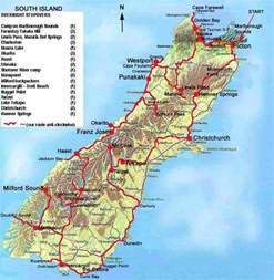 just our pictures of new zealand south island map and