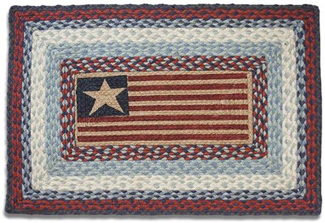 Country Rug by Country Rug American Flag Rug Braided Oval Kitchen Rug