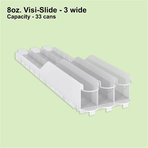 Shelf Glides 8oz visi slide 3 wide shelf glide 6 display