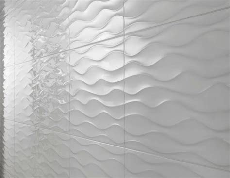 1m wave white high gloss ceramic decor tile 330 x 470mm ebay - Fliese Welle