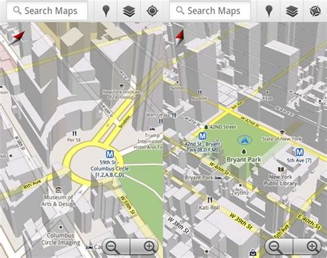 goggle mapsa maps 5 0 hits android includes new 3d map view and