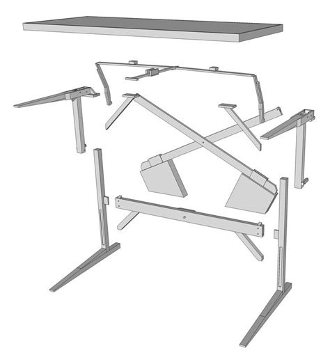 adjustable standing desk plans 17 best images about desks and drafting tables and