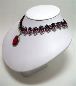 Cameo choker chainmaille necklace rose gothic jewelry