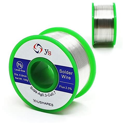 Solder Wick Dekko Original 100 Top Quality youshares 0 8mm lead free solder wire with rosin for electrical repair soldering sn99 ag0