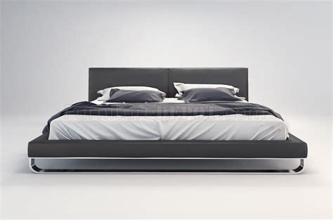 modloft chelsea bed md331 chelsea bed by modloft dark slate bonded leather w