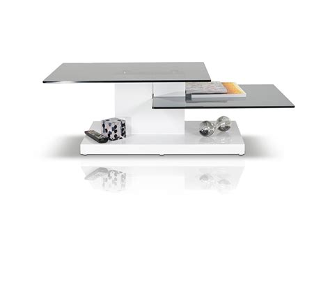 Contemporary White Coffee Table Dreamfurniture B153a Contemporary White High Gloss Coffee Table