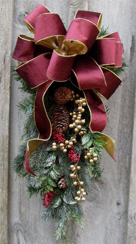 christmas swags for doors swag wreaths designer