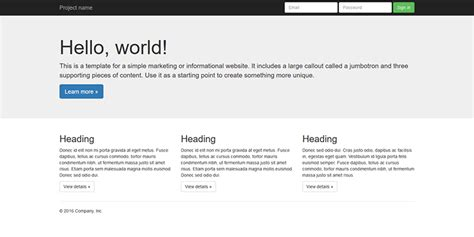 templates bootstrap basic 10 free minimal bootstrap framework starter templates