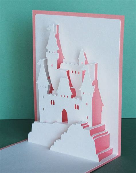 pop up card hill with templates 334 best images about castles and carriages on