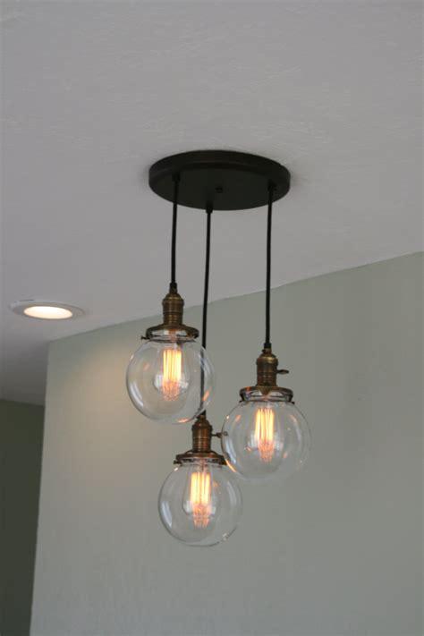 Glass Bulb Chandelier Chandelier Light 3strands 6 Glass Globe By Industrialrewind