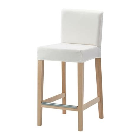 white counter stools ikea henriksdal bar stool with backrest birch gr 228 sbo white 63