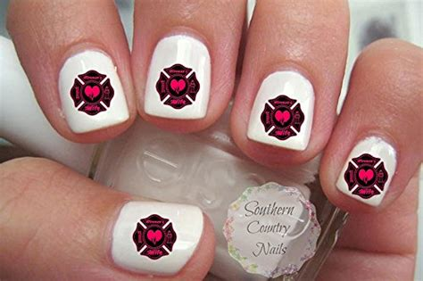 Firefighter Nail Designs