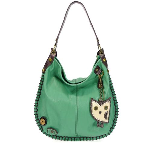 Hobo Croco With Owl Charm Set hoohoo owl hobo handbag teal