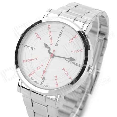 pattern words from watch bariho a672 fashion english word pattern stainless steel