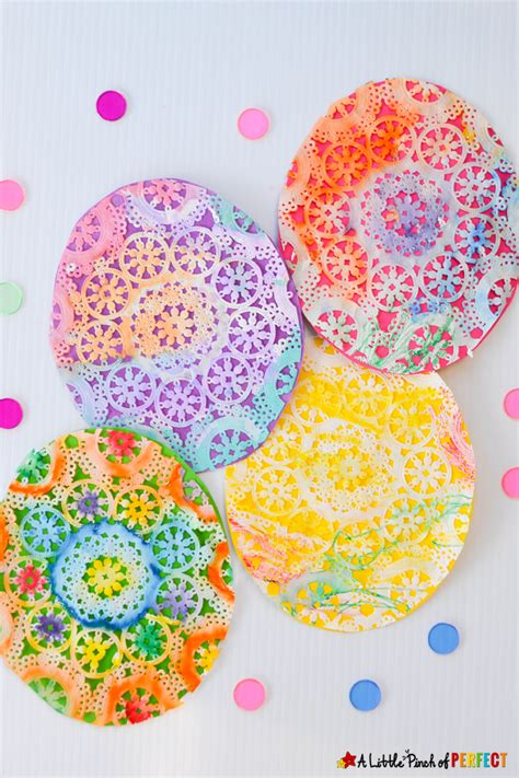 25 easter crafts for doilies crafts