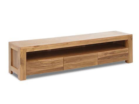 meuble tv loft meuble tv loft ii 1 niche 3 tiroirs teck massif