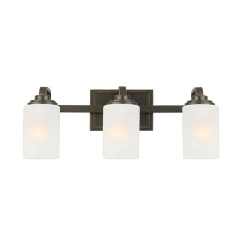hton bay 3 light rubbed bronze vanity light with