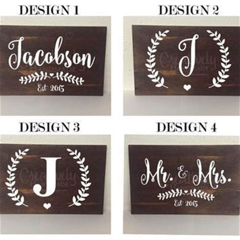 Handmade Name Signs - best 25 wedding canvas ideas on