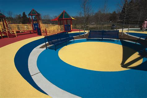 evertop pour  place playground surfacing surface america