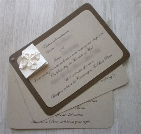 Origami Wedding Invitation - decorative money origami tutorial and picture