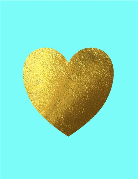 Home Decor Stores Brisbane Gold Heart Print With Heart Love Poster Faux Gold Foil
