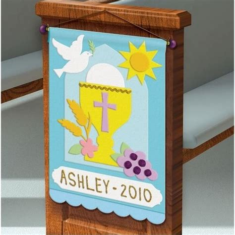 first communion pew banner decorating kit the catholic