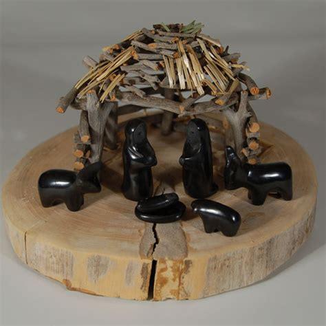 santa clara pottery nativity set southwest indian pottery figurines santa clara pueblo