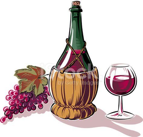 immagini bicchieri di vino uva fiasco e bicchiere di vino fotografie stock
