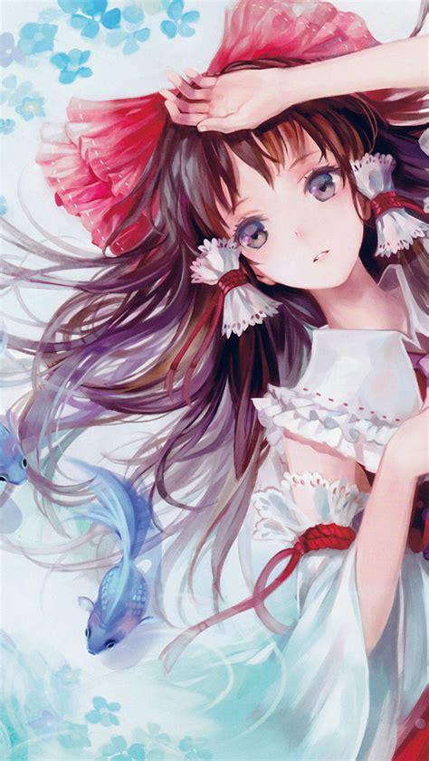 cute anime girl iphone wallpaper freeios7 ao18 anime art paint girl cute parallax hd
