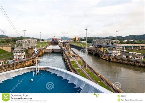 shipping boat to panama cruise ship in panama canal stock image image 8033781