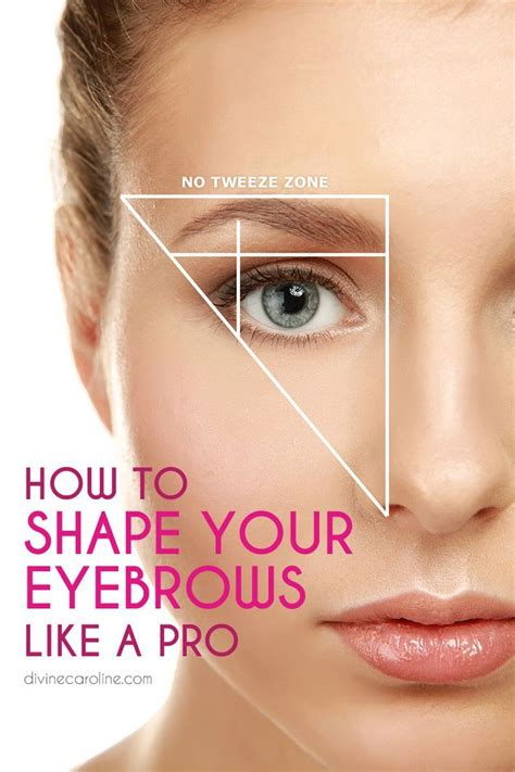 12 Tips On How To Pluck Your Eyebrows by Best 25 Different Eyebrow Shapes Ideas On
