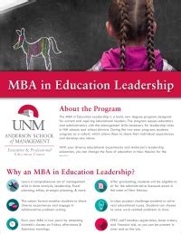 Unm Mba Deadlines by Mba In Education Leadership Mba In Education