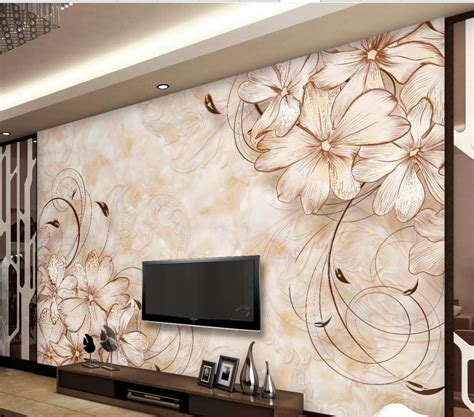 wallpaper home decor modern wallpaper 3d flower marble flower wallpaper home decor
