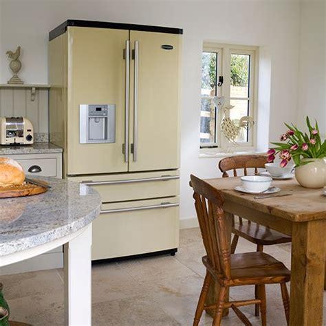 Vintage Kitchen Islands country style kitchen with fridge freezer kitchen