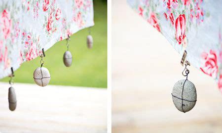 home dzine craft ideas  weights   tablecloth