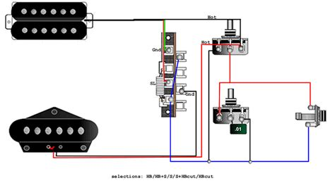 humbucker single coil blend wiring diagram humbucker get
