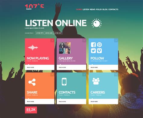 free website templates themes 29 radio station website themes templates free