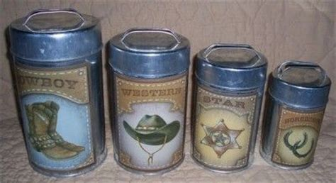Western Kitchen Canister Sets Patriotic Kitchen Decor Western Cowboy Kitchen Canister