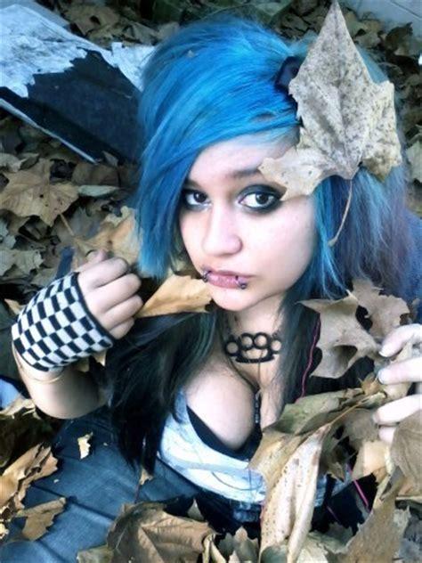 cute girl hairstyles zombie spike hair emo