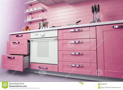 cucina rosa cucina rosa moderna immagine stock immagine di pantry