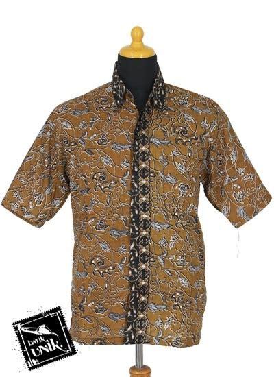 Kemeja Kok 1625 412 baju batik sarimbit gamis motif dedauan ublek tumpal kemeja lengan pendek murah batikunik