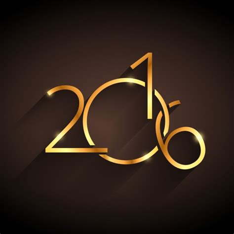 new year 2016 vector free golden happy new year 2016 vector free