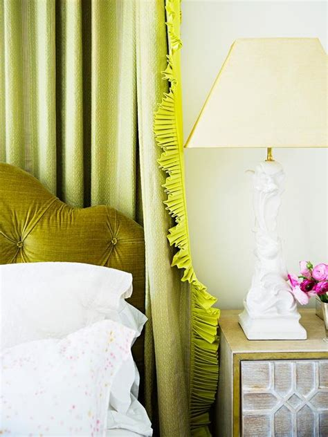 citron colored curtains green bedroom with tray ceiling transitional bedroom