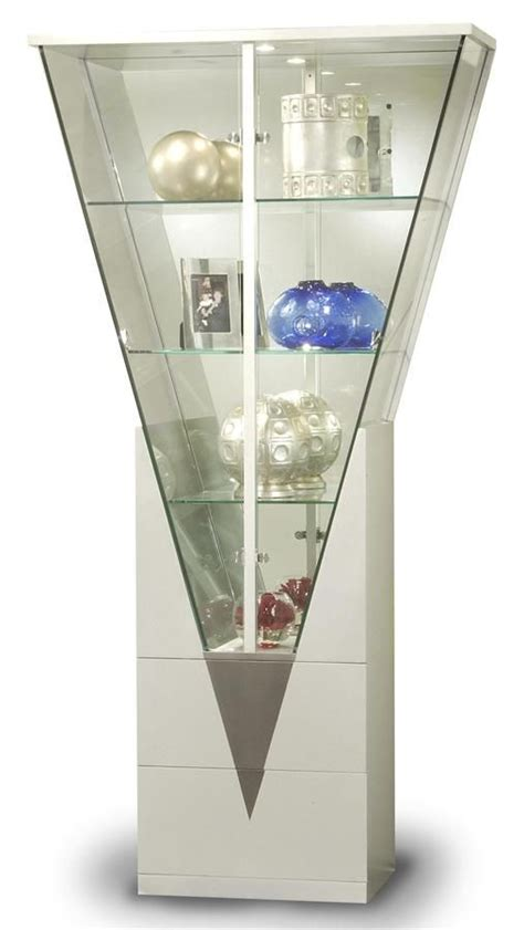 For our minis? Contemporary Triangular Glass Curio Cabinet